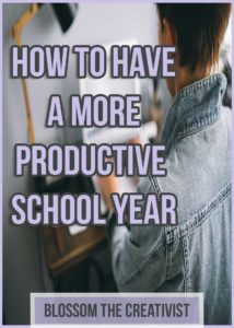 how to have a productive. school year