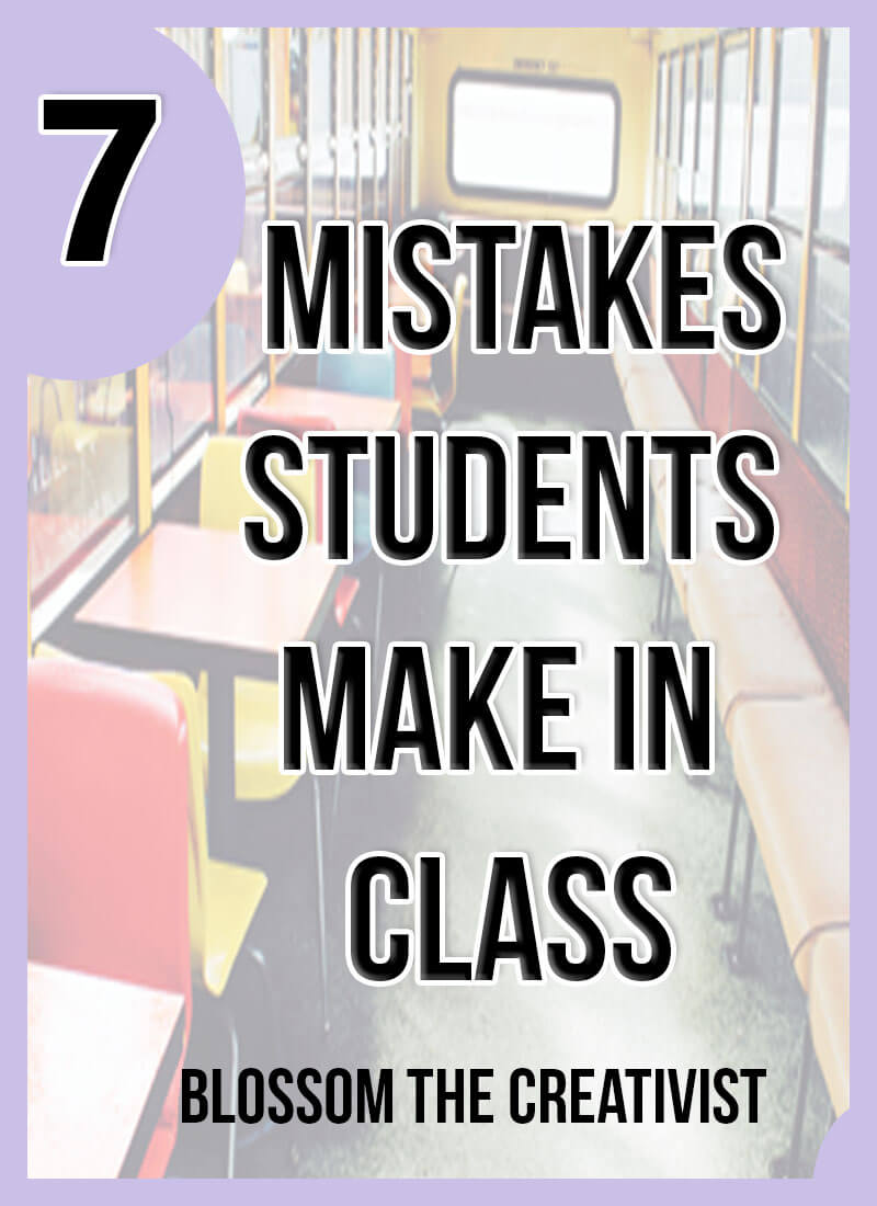 Do you have bad grades? Do you struggle with paying attention? Maybe you're making these seven mistakes in college or highschool. Click here to learn what they are and how to get rid of them!
