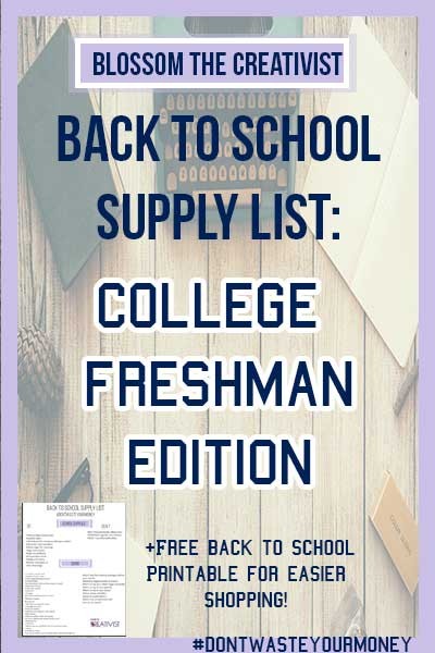 Going to be a freshman in college soon? Going back-to-school shopping for school supplies and dorm room essential can be daunting, and it's is a great opportunity to overwhelm your mind and your wallet! Here's what you do and don't need on your college back to school supply list
