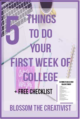 College doesn't have to be overwhelming! Here are a few productivity hacks to help you get stuff established your first week of college. Want an even longer list? Click here to get it!