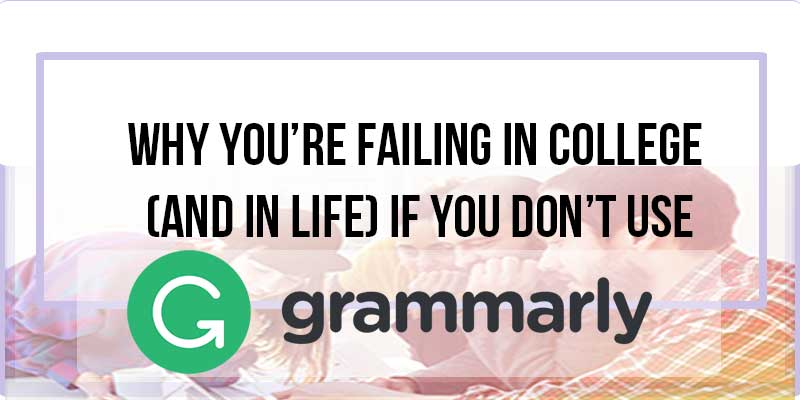 Are you terrible with grammar? Do you have that one professor that makes your life miserable because she won't look past your grammar mistakes and give you the A you deserve!?Grammarly is a proof-reading service all college kids (and ordinary people) will benefit from. It does way more than your typical Microsoft Word squiggly-underline thing, and it'll actually tell you why a mistake is a mistake. Best of all, it's absolutely free! Want to learn more? Click here!