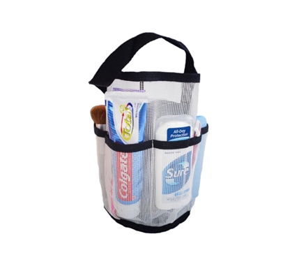 Get a shower caddy that is sturdy and helps you downsize on space. And it's only 6 bucks!