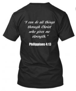 """Leave me alone, I'm abstinent"" black tshirt with ""I can do all things through Christ who gives me strength"" bible verse at back. Perfect for college students practicing abstinence and celibacy. Also perfect for high school students that are soon to be freshman. 5 things to do on valentines day without having sex."